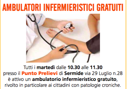 AMBULATORI INFERMIERISTICI GRATUITI